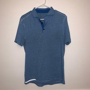 Lululemon blue reflective athletic polo
